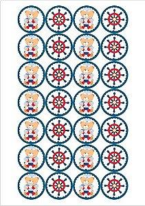 URSINHO MARINHEIRO 001 MEDALHAO 4 CM - 28 UNIDADES