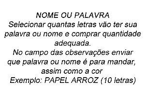 NOME OU PALAVRA 5 CM - PAPEL PREMIUM