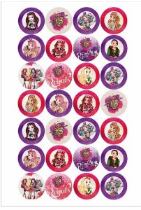 EVER AFTER HIGH MEDALHAO 4 CM PERSONAGENS VARIADOS - 28 UNIDADES