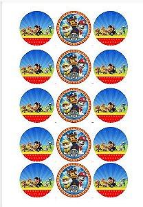 PATRULHA CANINA 002 5 CM (CORTADO) 15 UNIDADES