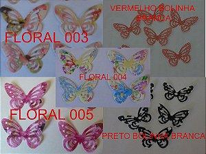 COMBO 100 001 - BORBOLETAS VAZADAS - 100 UNIDADES
