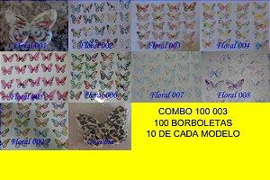 COMBO 100 003 - BORBOLETAS 100 UNIDADES