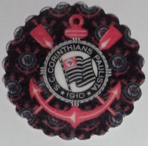 CORINTHIANS 001 MEDALHAO 5 CM - 15 UNIDADES CORTADO