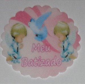 BATIZADO 001 MEDALHAO 5 CM - 15 UNIDADES CORTADO