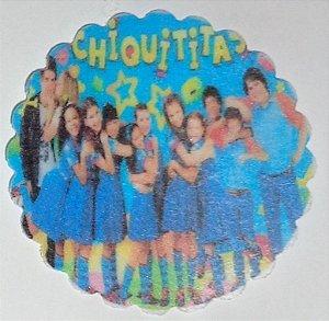 CHIQUITITAS 001 MEDALHAO 5 CM - 15 UNIDADES CORTADO
