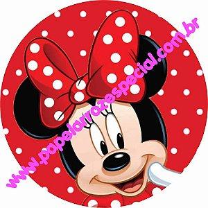 Minnie Vermelha 015 19 Cm Papel Arroz Especial