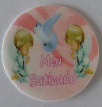 HOSTIA BATIZADO MENINA 001 (20 UNIDADES)