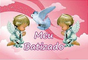 COMBO BATIZADO 001 + FAIXA LATERAL + POMBO DA PAZ (CONFEITO AÇUCAR)