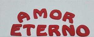 AMOR ETERNO (VERMELHO) CONFEITO DE AÇÚCAR
