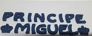 PRINCIPE + NOME PERSONALIZADO (AZUL MARINHO) CONFEITO DE AÇÚCAR