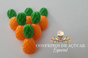 ABACAXI (06 UNIDADES) CONFEITO DE AÇÚCAR