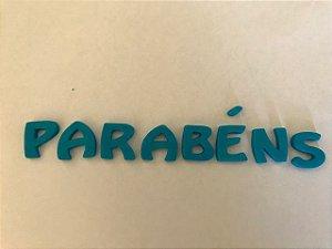 PARABENS AZUL (08 PEÇAS) CONFEITO DE AÇÚCAR