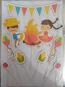 FESTA JUNINA 001 TOPO DE BOLO (PAPEL FOTOGRÁFICO)