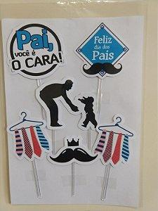 DIA DOS PAIS 001 TOPO DE BOLO (PAPEL FOTOGRÁFICO)