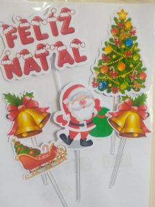 NATAL 001 TOPO DE BOLO (PAPEL FOTOGRÁFICO)