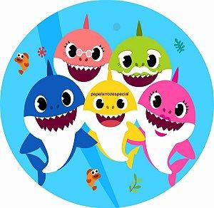BABY SHARK ADESIVO P/ LATINHA/TUBETE (CORTADO)