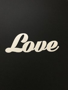 LOVE RECORTADO PAPEL ARROZ PREMIUM (13 CM)