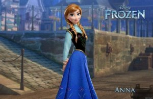 Frozen Anna 001 A4