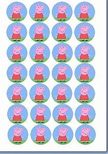 PEPPA PIG MEDALHÃO 4 CM 28 UNIDADES