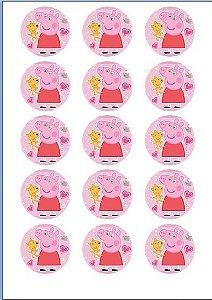 PEPPA PIG MEDALHÃO 008 5 CM (CORTADO) 15 UNIDADES