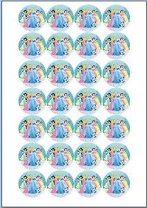 PRINCESAS 004 MEDALHÃO 4 CM 28 UNIDADES