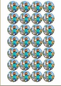 MINECRAFT MEDALHÃO 001 4CM