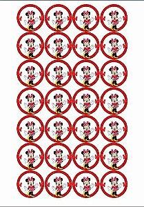 MINNIE VERMELHA MEDALHÃO 001 4CM (24 UNIDADES)