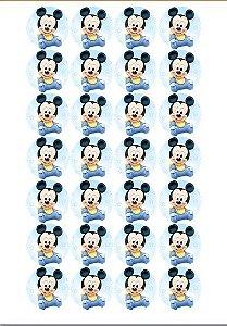 MICKEY BABY 001 MEDALHÃO 4CM 24 UNIDADES