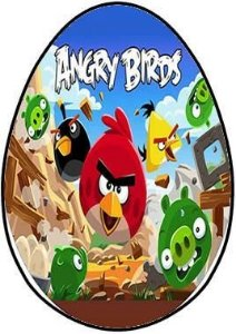 OVO COLHER ANGRY BIRDS 002 (02 UNIDADES) 250G