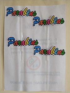 ESCRITA PARABÉNS COM HASTE P/ BOLOS 1KG (04 UNIDADES)