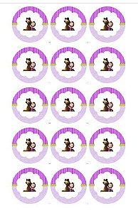 MASHA CUPCAKE 001 5 CM 15 UNIDADES