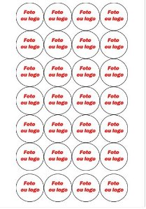 MEDALHÃO 4 CM - CUPCAKE, PIRULITOS AFINS PERSONALIZADO 28 UNIDADES
