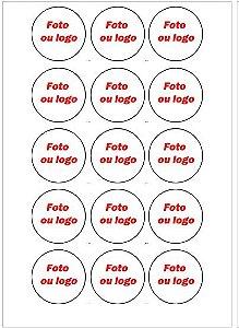 MEDALHÃO 5 CM - CUPCAKE, PIRULITOS E AFINS PERSONALIZADO - 15 UNIDADES
