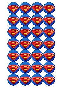 SUPER HOMEM 001 MEDALHÃO - 4 CM 24 UNIDADES
