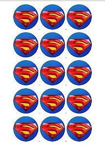 SUPER HOMEM 001  MEDALHAO 5 CM (CORTADO)  15 UNIDADES