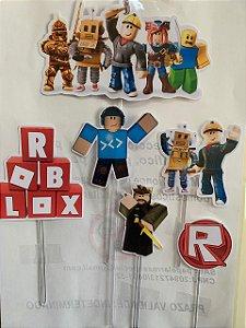 ROBLOX TOPO DE BOLO (PAPEL FOTOGRÁFICO)
