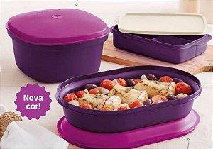 Tupperware Kit Actualité + Basic Line Púrpura - 03 Peças