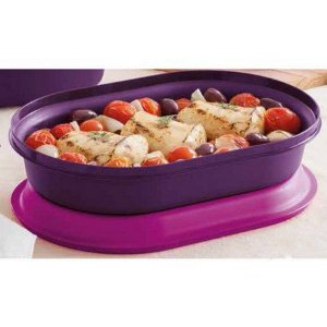Tupperware Travessa Oval Actualité 2,0 Litros  - Púrpura