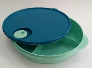 Tupperware Cristalwave Marmita com Divisórias Para Microondas 1,4 Litro