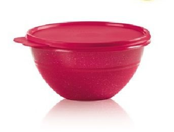 Tupperware Tigela Maravilhosa Com Glitter 1,8 Litro  - Bordô