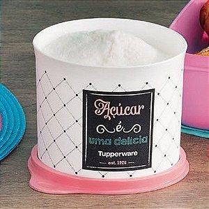 Tupperware Caixa Redondinha Para Açúcar 400g  - Linha Bistrô