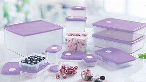 Tupperware Kit Bea Freezertime 12 peças - Lilás