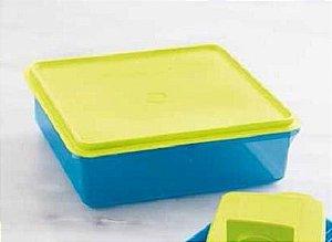 Tupperware Refri Box Versátil 2,5 Litros - Azul e Amarelo