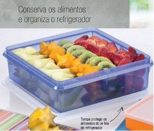Tupperware Refri Box Versátil 2,5 Litros - Azul