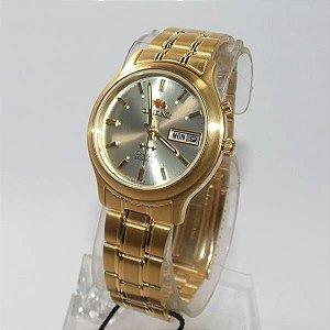 Relógio Orient Automatico Dourado Original Fem0201uc9