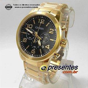 AN8052-55E Relógio Citizen Dourado Quartz Cronografo WR50