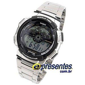 Relógio Casio Digital Bateria 10anos AE 1100WD 1AV