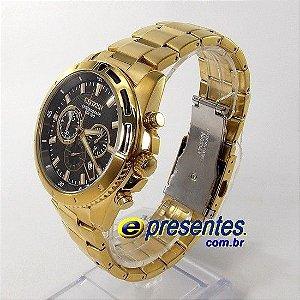 AN8012-50E Relogio Citizen Cronografo Dourado