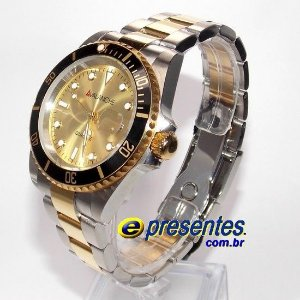 AV2234-2 Relógio Dourado e Prateado Avalanche