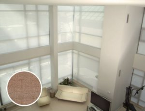 Cortina Rolô Tela Solar Texturizado cor Café